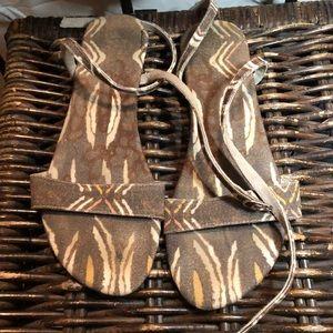 Free people Brown Aztec sandals
